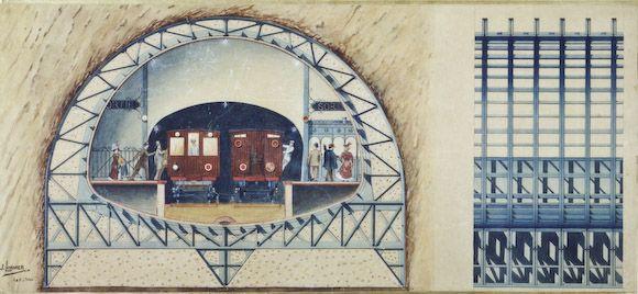 241d950da8f246 Fonçage de la station Cité Adresse   La traversée sous-fluviale de la ligne  4