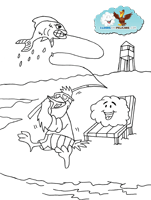 Fishing Coloring Page The Remarkable Friendship Of Aristotle Burgoo Coloring Pages Color Art