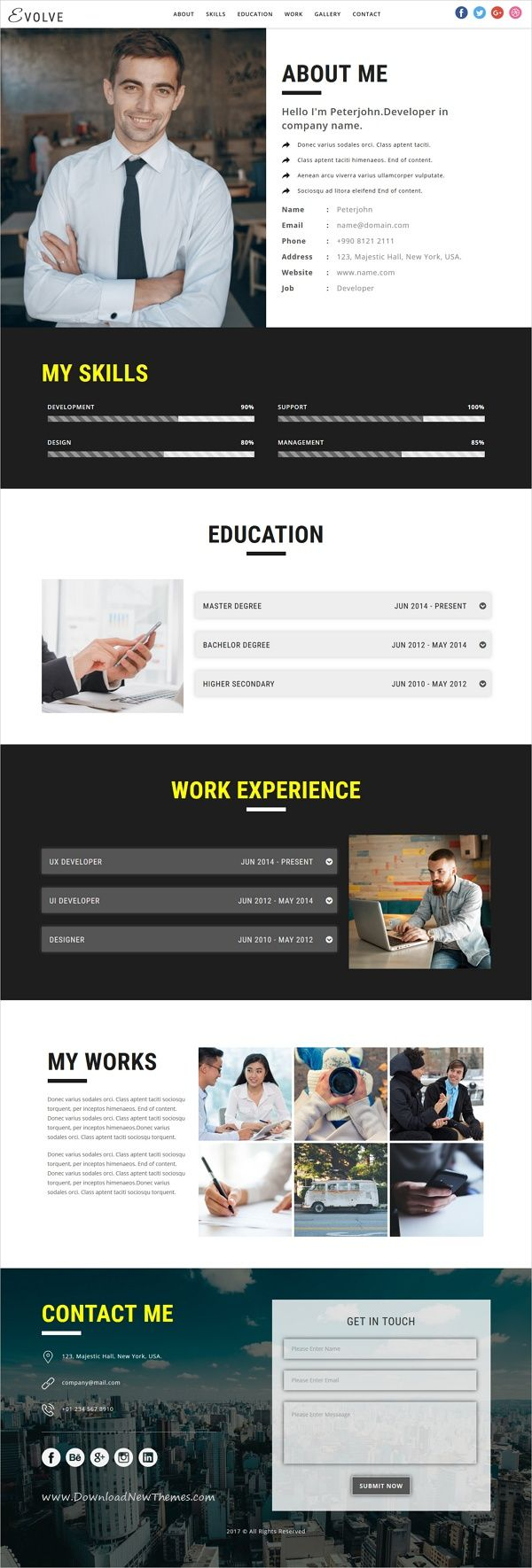 EVOLVE - Multipurpose Responsive HTML Landing Pages   Template
