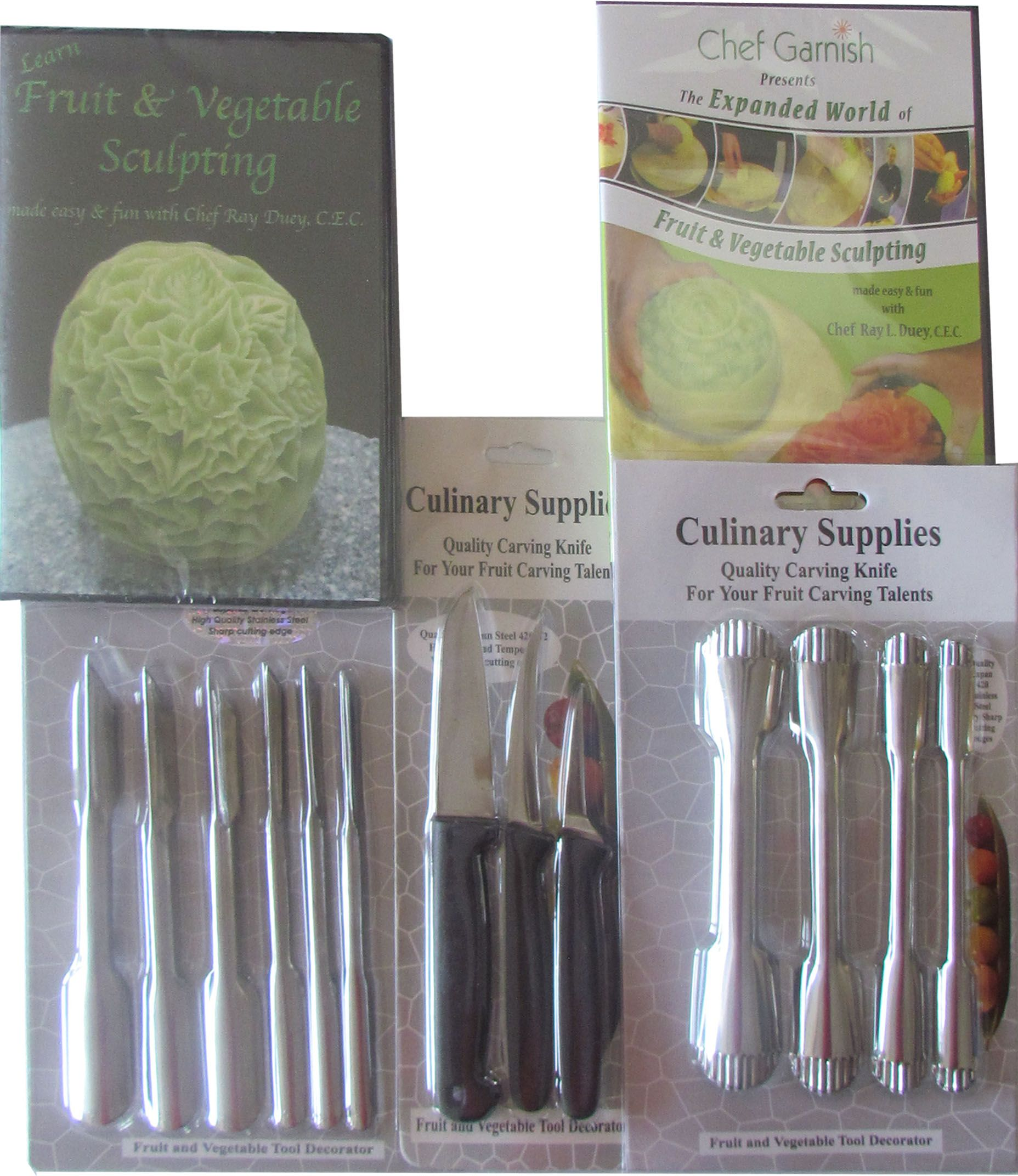 Culinarysupplies.org fruit and vegetable carving tools knives and 2