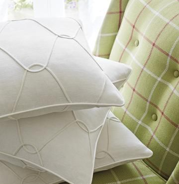 Thibaut - Wallpaper and Fabric - like the cording on the pillow in same color