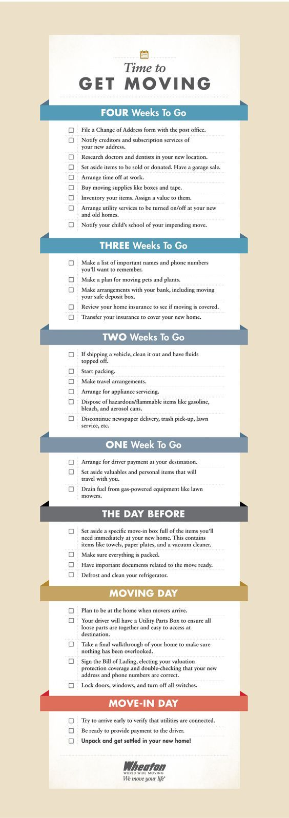 moving checklist 4 week countdown 1 misc moving checklist