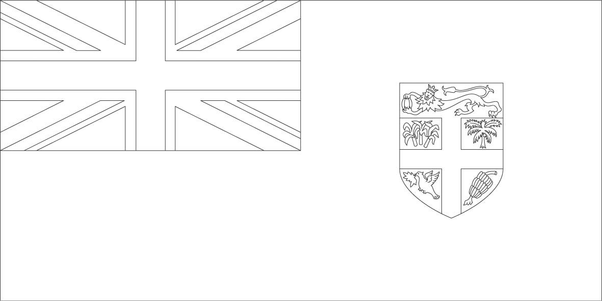 Fiji Flag Coloring Page Sonlight Core C Window On The World