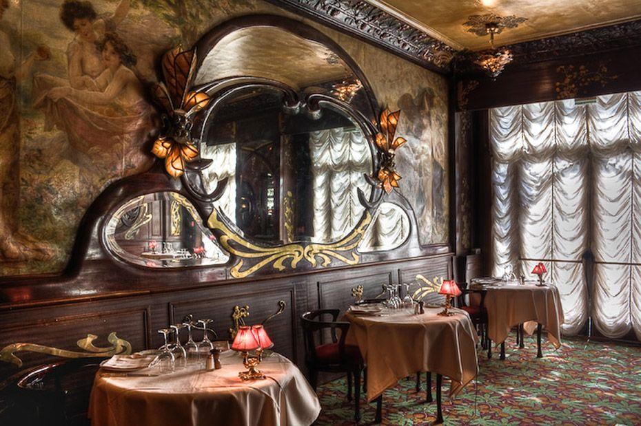 Chez Maxim's - Paris  Art Noveau mirrors and doors.