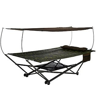 bliss hammocks 2 person ez stow hammock with canopy wheels and bag bliss hammocks 2 person ez stow hammock with canopy wheels and bag      rh   pinterest