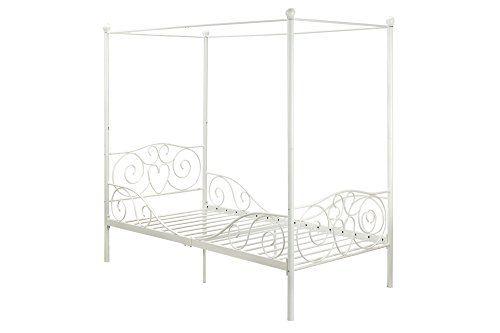 DHP Canopy Metal Bed- Twin, White DHP https://www.amazon.com/dp ...