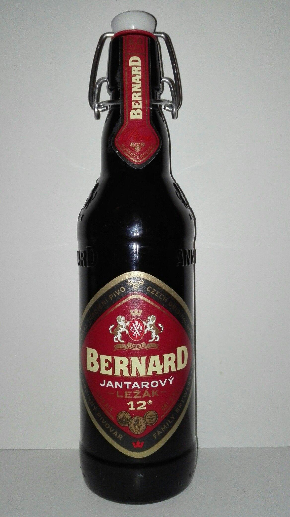 Pivo Bernard Jantarovy Rezane Pivo Czech Beer Beer Label Czech Beer Beer
