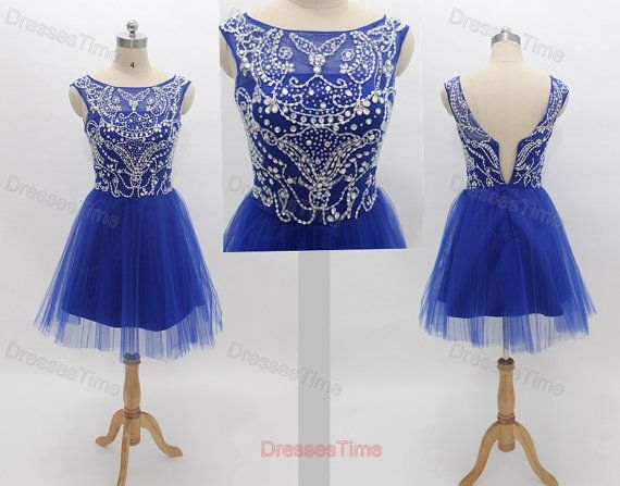 Royal blue homecoming dress, short prom dress, blue prom dress ...