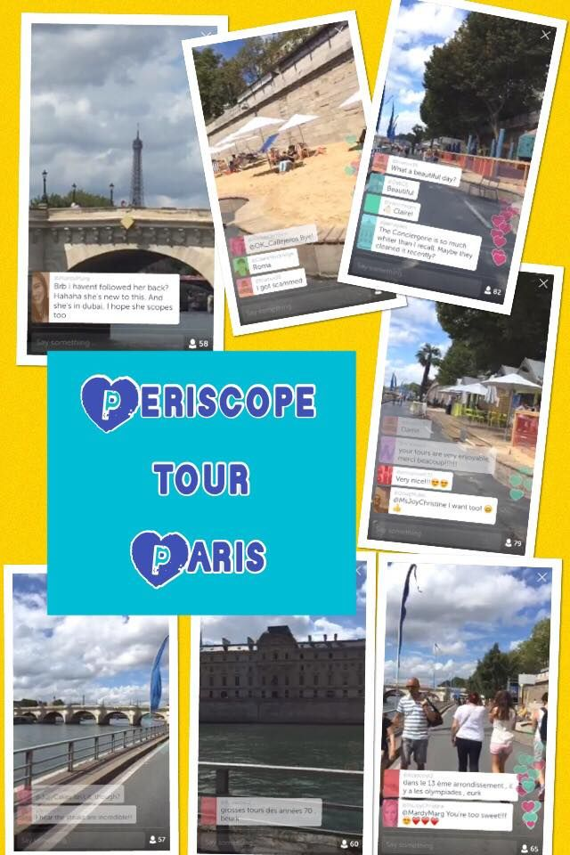Enjoyed a tour of Paris via Periscope this morning while sipping coffee in Texas!