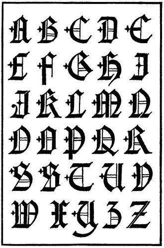 El Abecedario De Letras Goticas Letras Goticas Abecedario Tipos