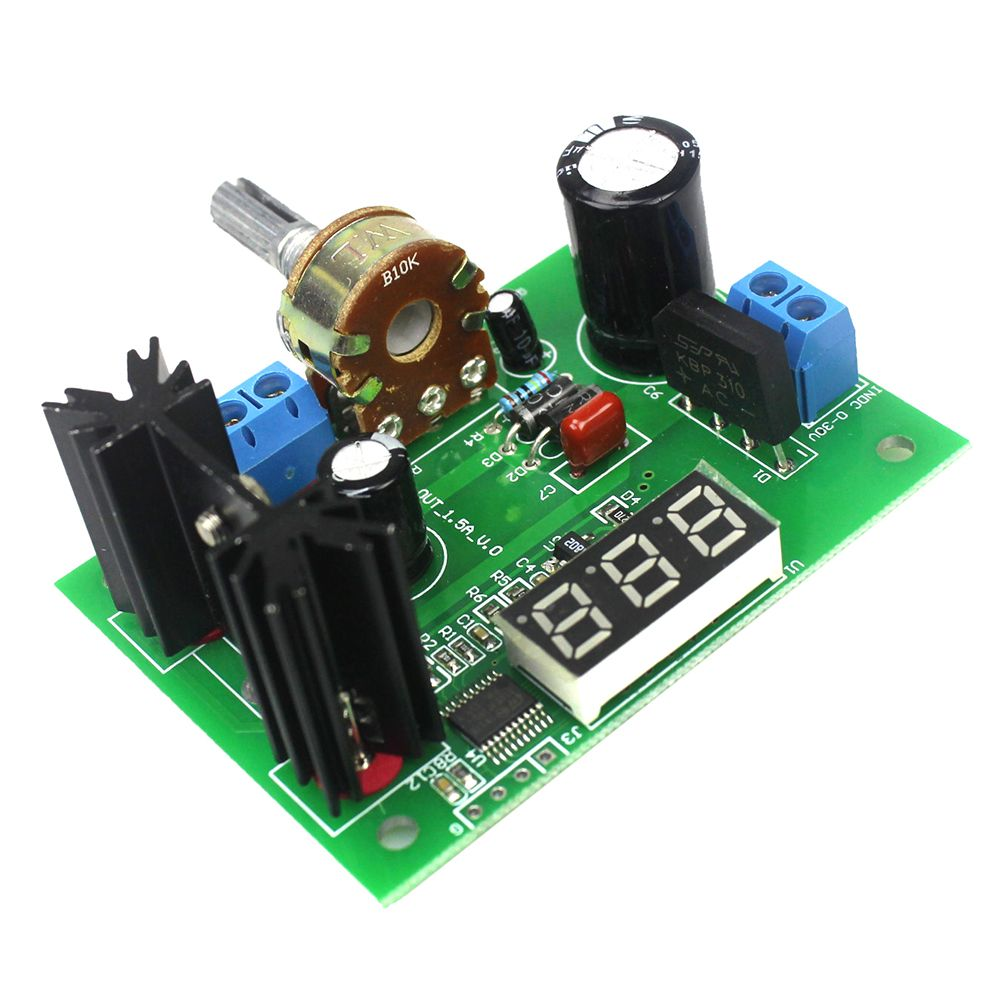 Lm317 Ac Dc Adjustable Voltage Regulator Step Down Power Supply Module With Led