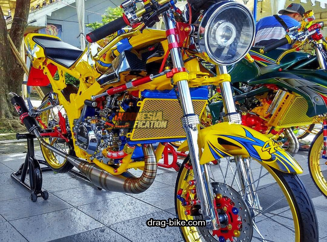 Modifikasi Ninja R Kontes Airbrush Sepeda Gambar Motor