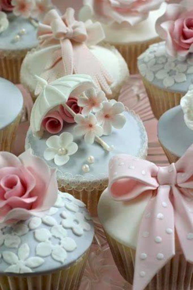 Outstanding Shabby Chic Bridal Shower Ideas 39 Cupcake Cakes