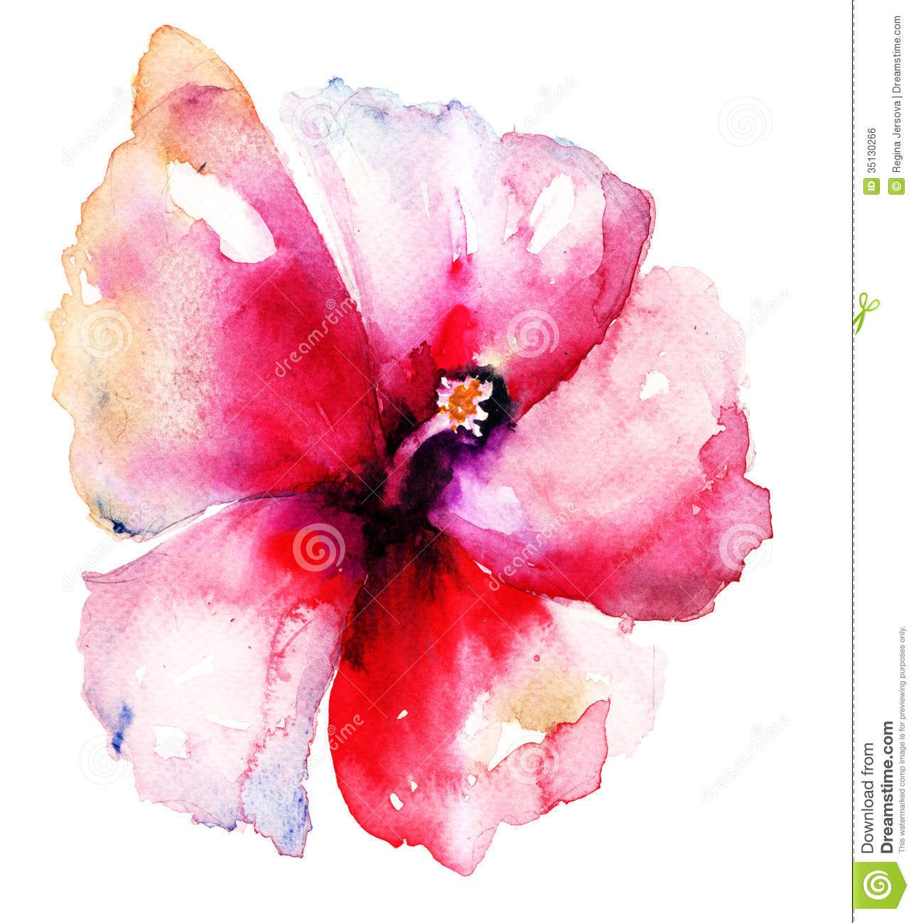 Red Hibiscus Flower Watercolor Flowers Paintings Hawaiian Flower Tattoos Hibiscus Flower Tattoos