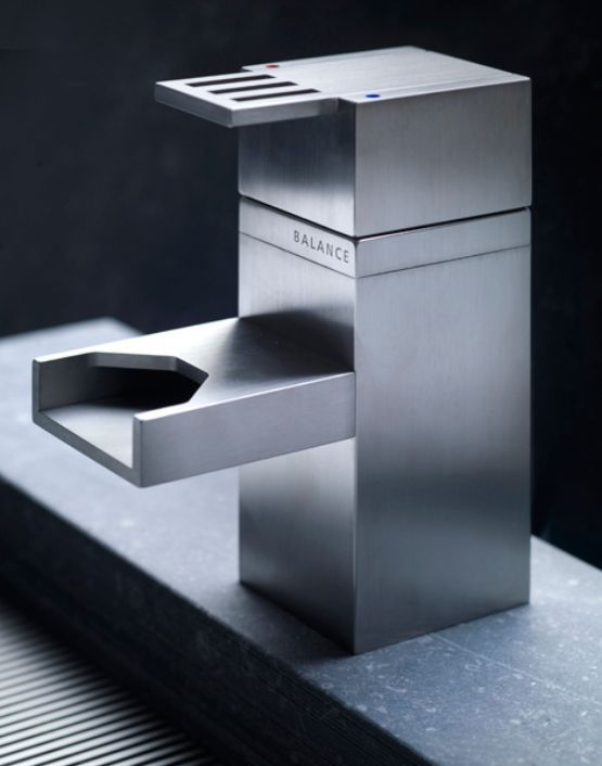 modern stainless steel faucet
