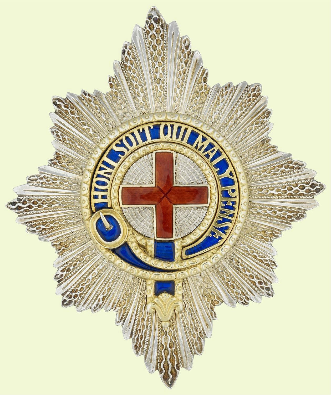 Order Of The Garter Star Similar To The One That Was Worn By Prince Philip The Duke Of Edinburgh On His Wedding Day 10 X 8 X Order Of The Garter Art Knight