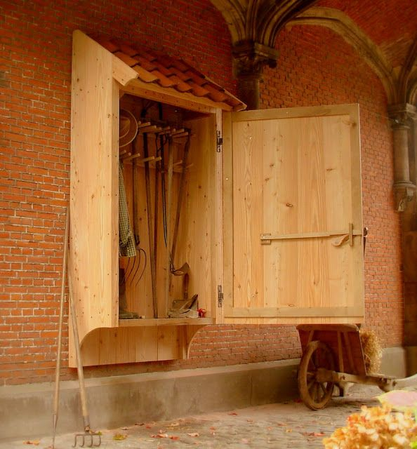 A Beautiful Garden Tool Cabinet Designed By Dirk Mortier.a Master At  Designing And Construction Of Beautiful Farm Buildings, Fences And  Accessories, ...