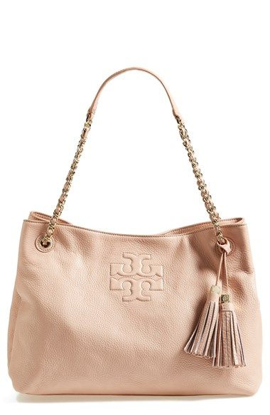 61dd477cfeac Tory Burch  Thea  Shoulder Tote available at  Nordstrom, in porcelain pink.  this would cost me a kidney but I LOVE IT