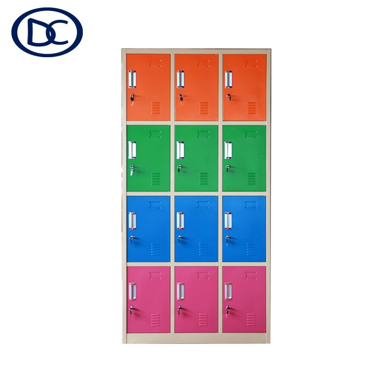 Colorful Steel Locker Metal Locker 12 Door Locker Locker Room Locker Steel Locker Door Locker Locker Storage