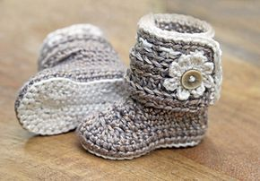 dd18090d9b7 Baby Girl Daisy Booties pattern by Hand Heart and Sole