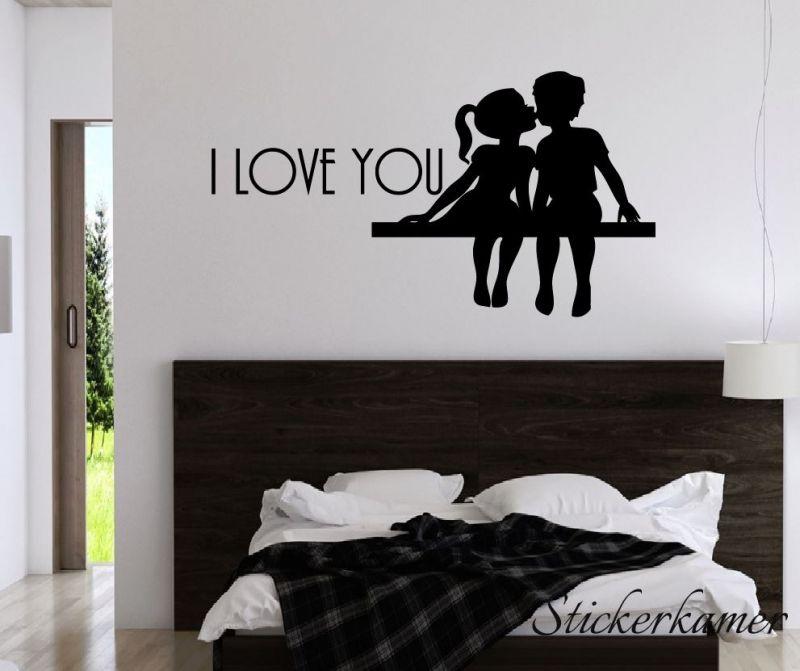 muursticker tekst slaapkamer i love you slaapkamer muurstekst en koppel