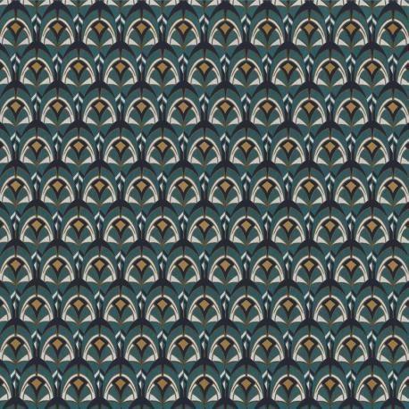 Papier peint GEMMAIL bleu marine – Collection PORTFOLIO – Casamance