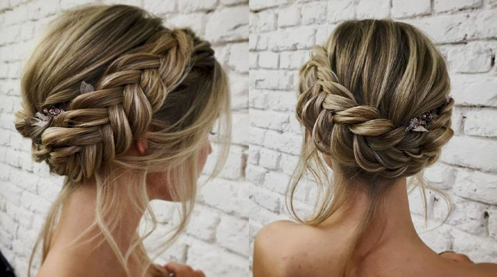 Lux Christmas Party Hair Styles To Look Nice On Christmas Night 2019 Braided Bun Hairstyles Hair Styles Bun Hairstyles