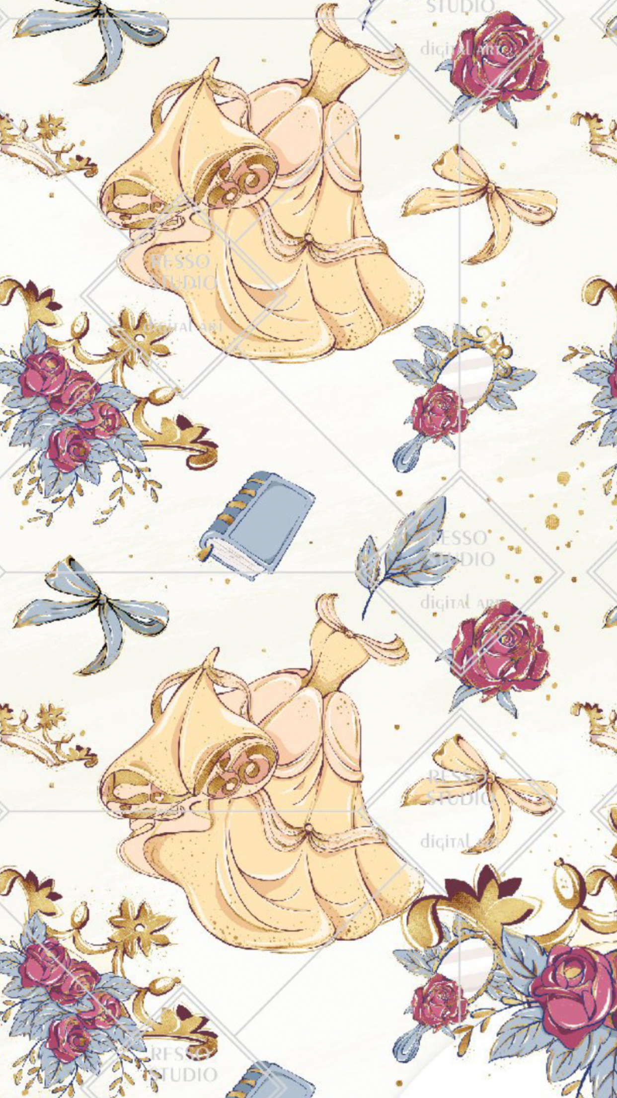Beauty And The Beast Disney Phone Wallpaper Cute Disney