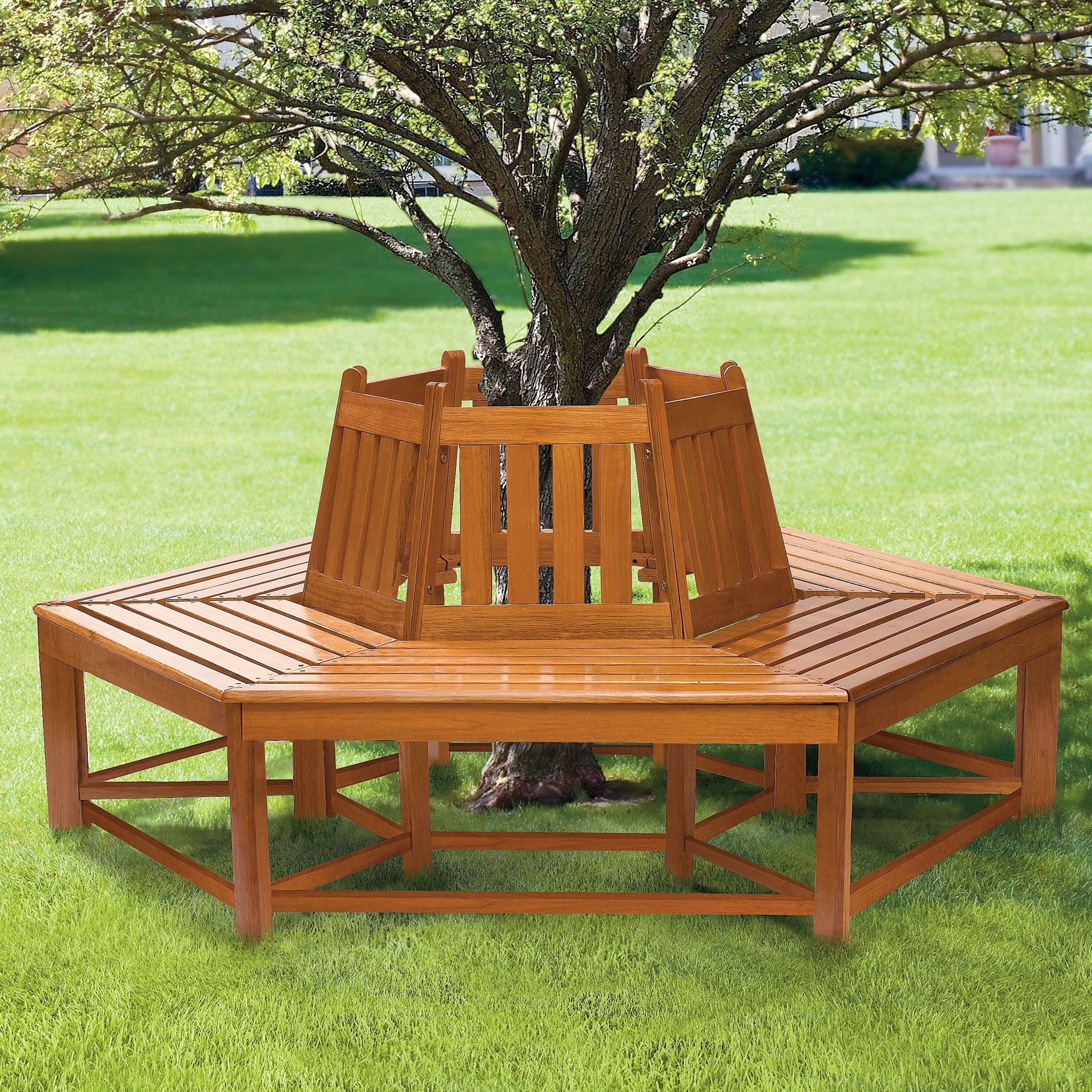 Garden decor tree  Half Wrap Wooden Tree Bench  Decor u Garden  Brylanehome