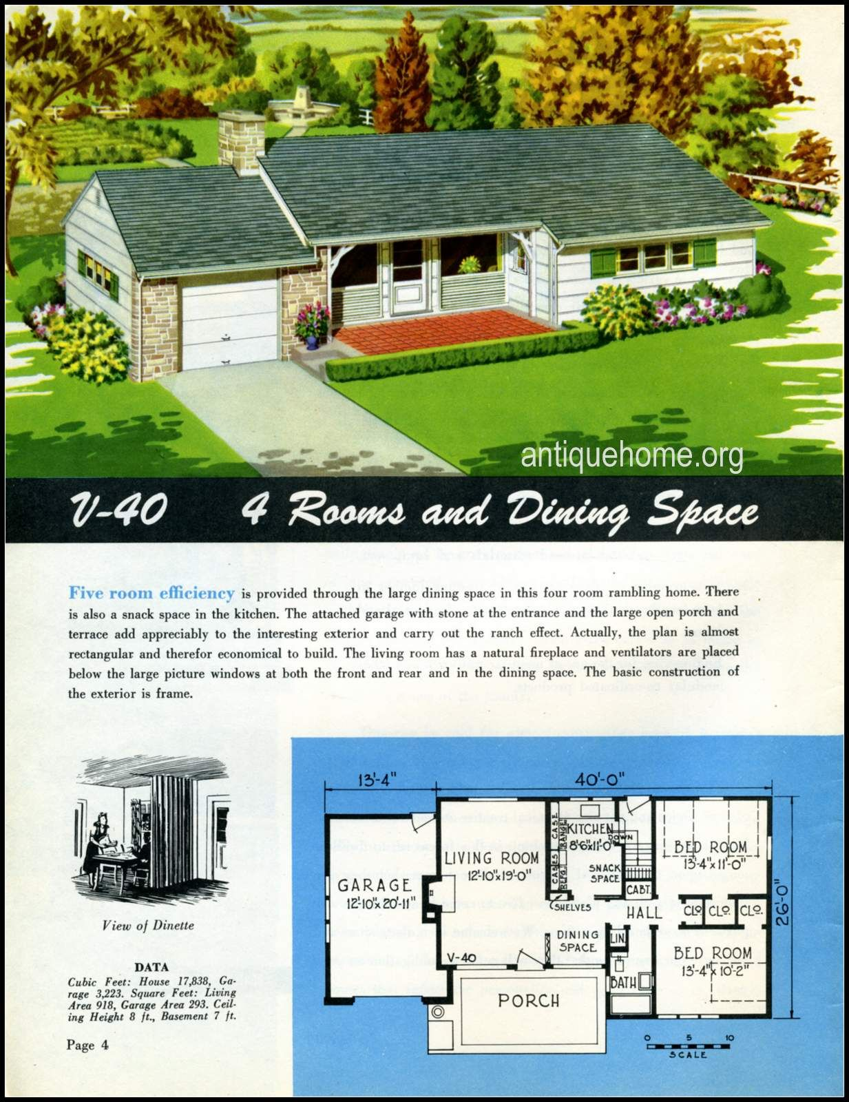 1949 Ranch Style Homes From National Plan Service And Antiquehome Org Vintage House Plans Ranch Style Homes Country Style House Plans