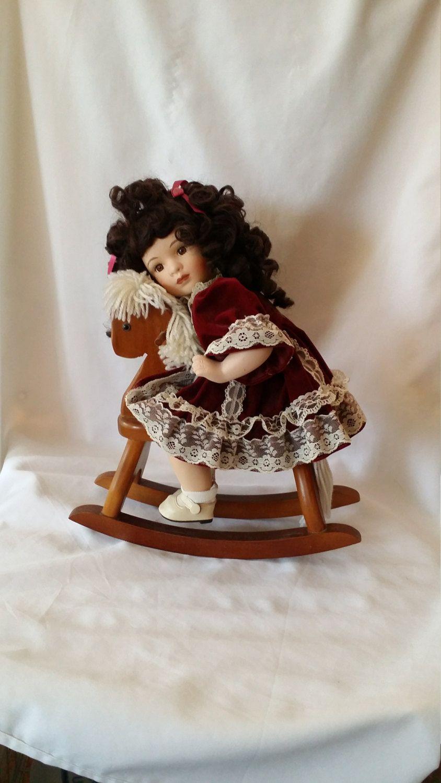 Super Maggie Vintage Porcelain Haunted Doll On Rocking Horse Ibusinesslaw Wood Chair Design Ideas Ibusinesslaworg