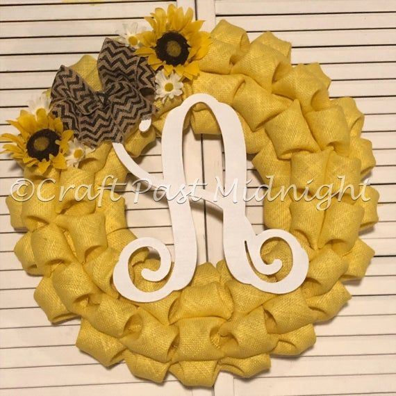 Photo of Sunflower Wreath – Yellow Burlap Sunflower Wreath – Spring Sunflower Wreath – Mother's Day Gift for Mom – ALL FIRST AVAILABLE 012