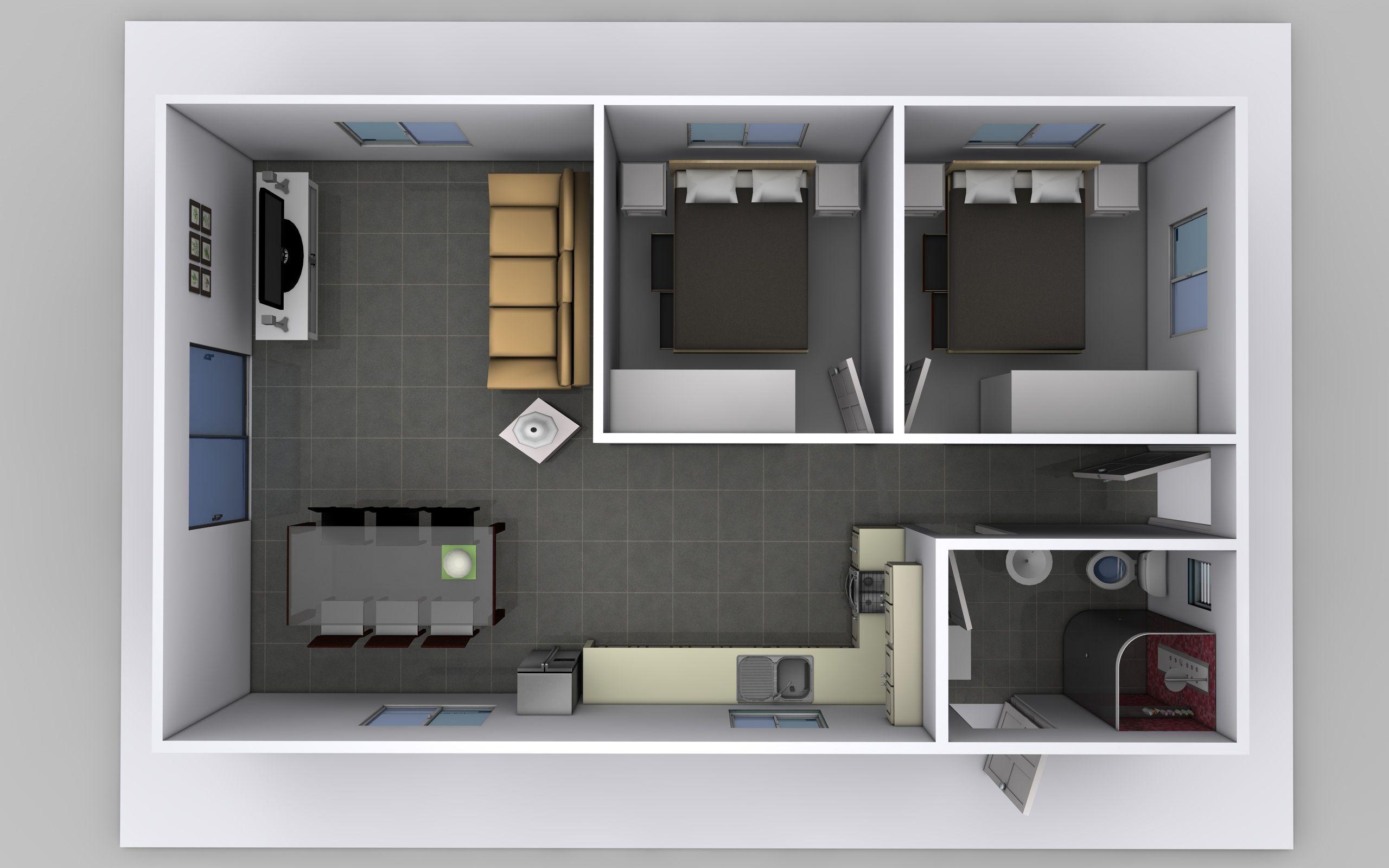 2 bedroom flat design ideas | design ideas 2017-2018 | Pinterest ...