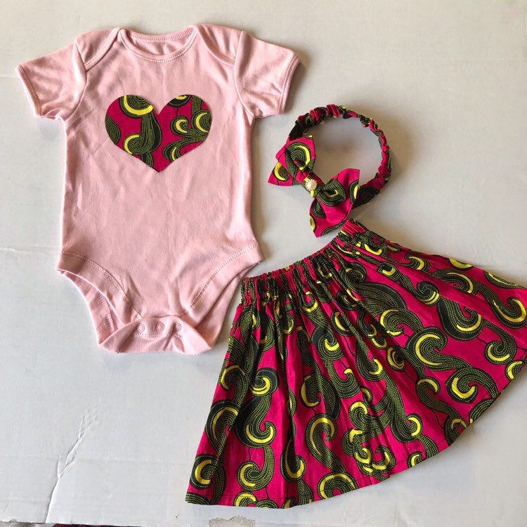 African Print Kids Clothes Ankara Baby Girl Dress Matching Outfits African Print Baby Skirt Ankara Headband African Print Baby Girls Clothes