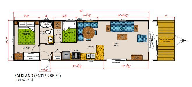 General Manufactured Housing Floor Plans: Tour General Coach Canada's Frontier Series Park Model RV