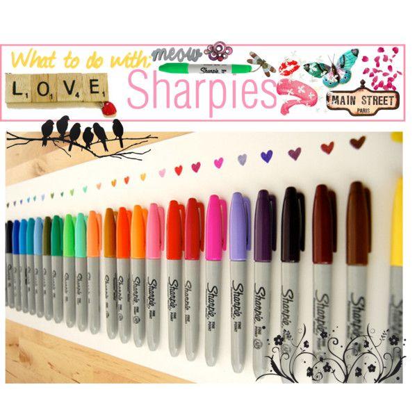 What to do with; Sharpies by sunflowertips on Polyvore featuring Kunst
