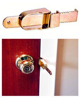 How To Stop Burglars From Opening Your Hotel Room Hotel Door Locks Door Locks Home Security Devices