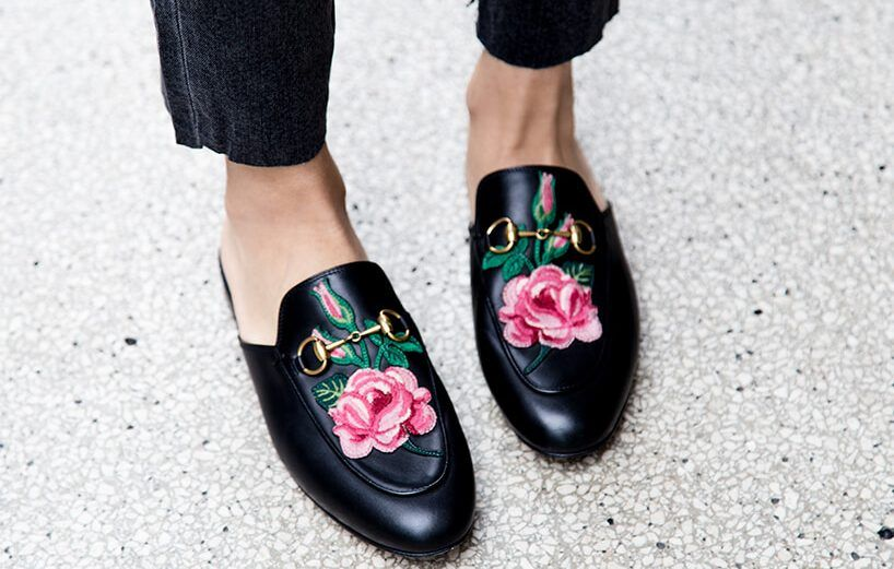 02978f8ff6e7 The perfect designer dupe for the  780 Gucci Princetown Embroidered Mule  Loafers is only  35.