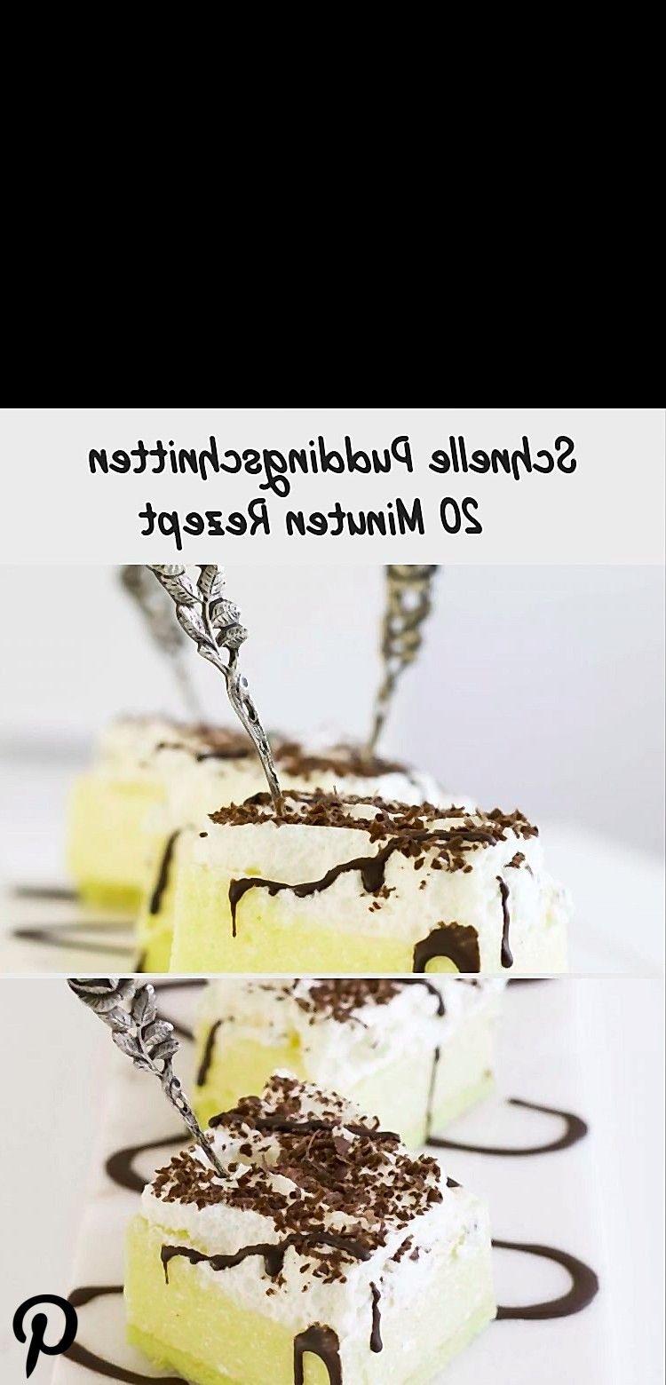 Leckere Puddingschnitten in 20 Minuten Leckere Puddingschnitten in 20 Minuten
