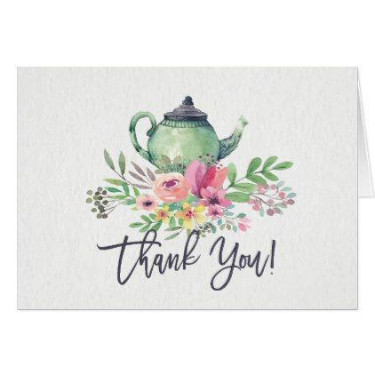 tea party shower thank you note card 260 by invitationstop cyo customize personalize unique diy idea