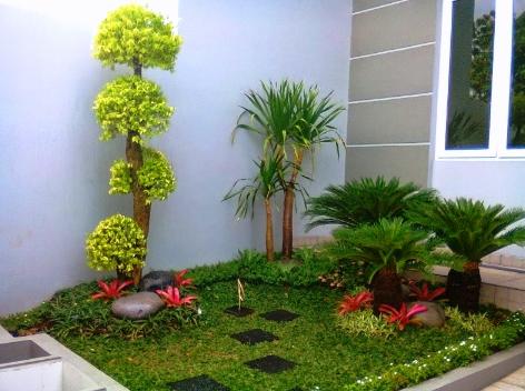 Desain Taman Depan Rumah Mungil Minimalis Cantik Dan Mewah Ide