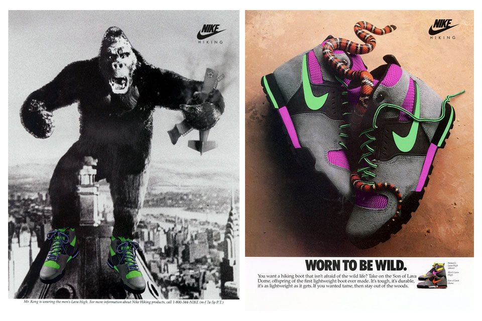 best website 59f09 436d1 Nike Lava High and Son of Lava Dome 1989 Advertisements offspring of Lava  Dome