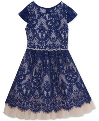Rare Editions Lace Dress, Big Girls (7-16) | macys.com | NyNy's ...