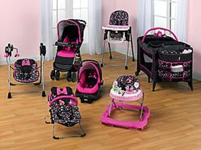 NEW 7 PIECE SET Minnie Mouse Stroller Car Sea Seat And