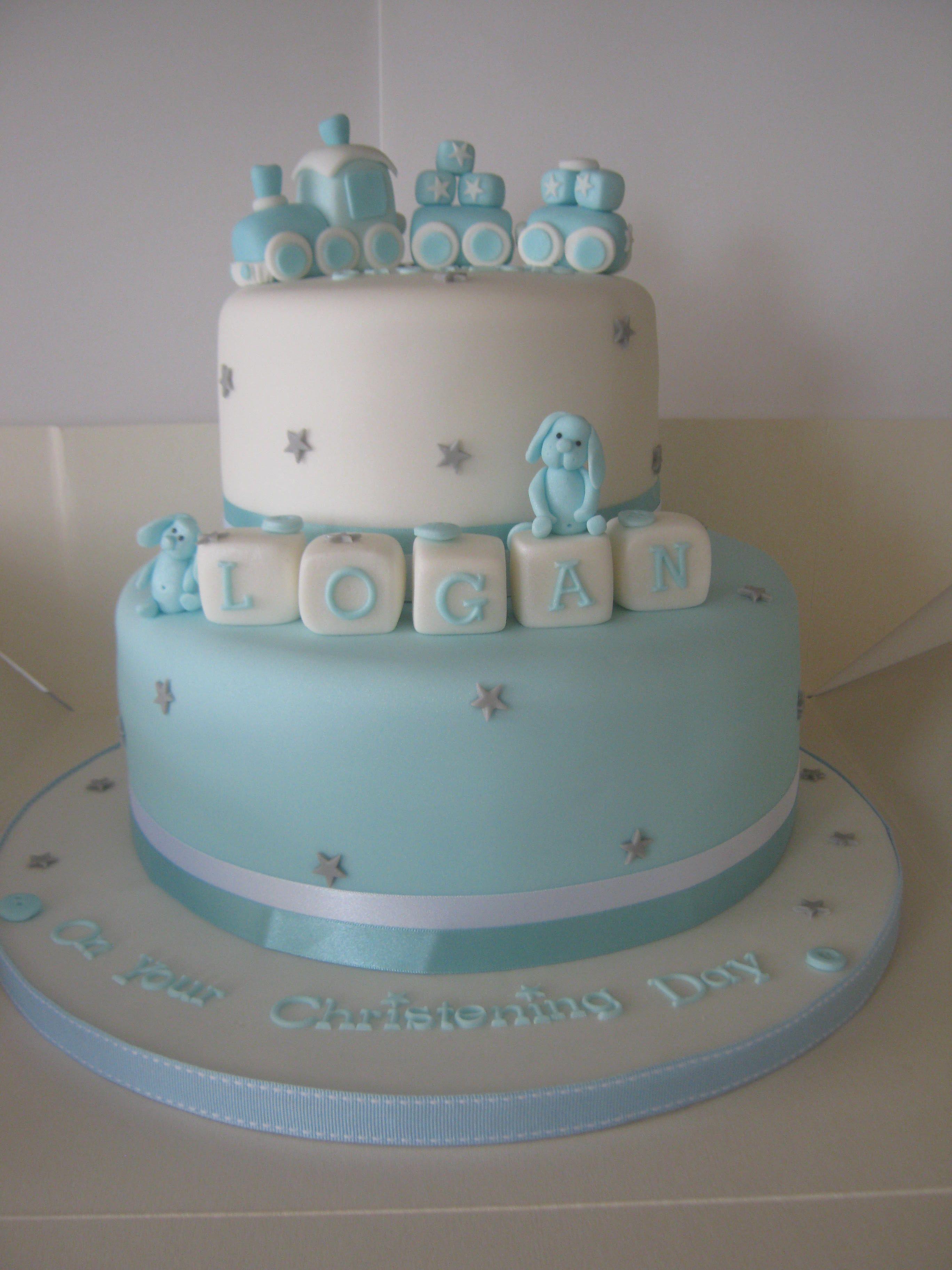 Baby Shower Cupcakes Boys Christening Cake