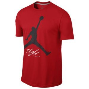 17fb9b4688d4 Jordan Flight Jumpman T-Shirt - Men s - Basketball - Clothing - Black Gym  Red. dex