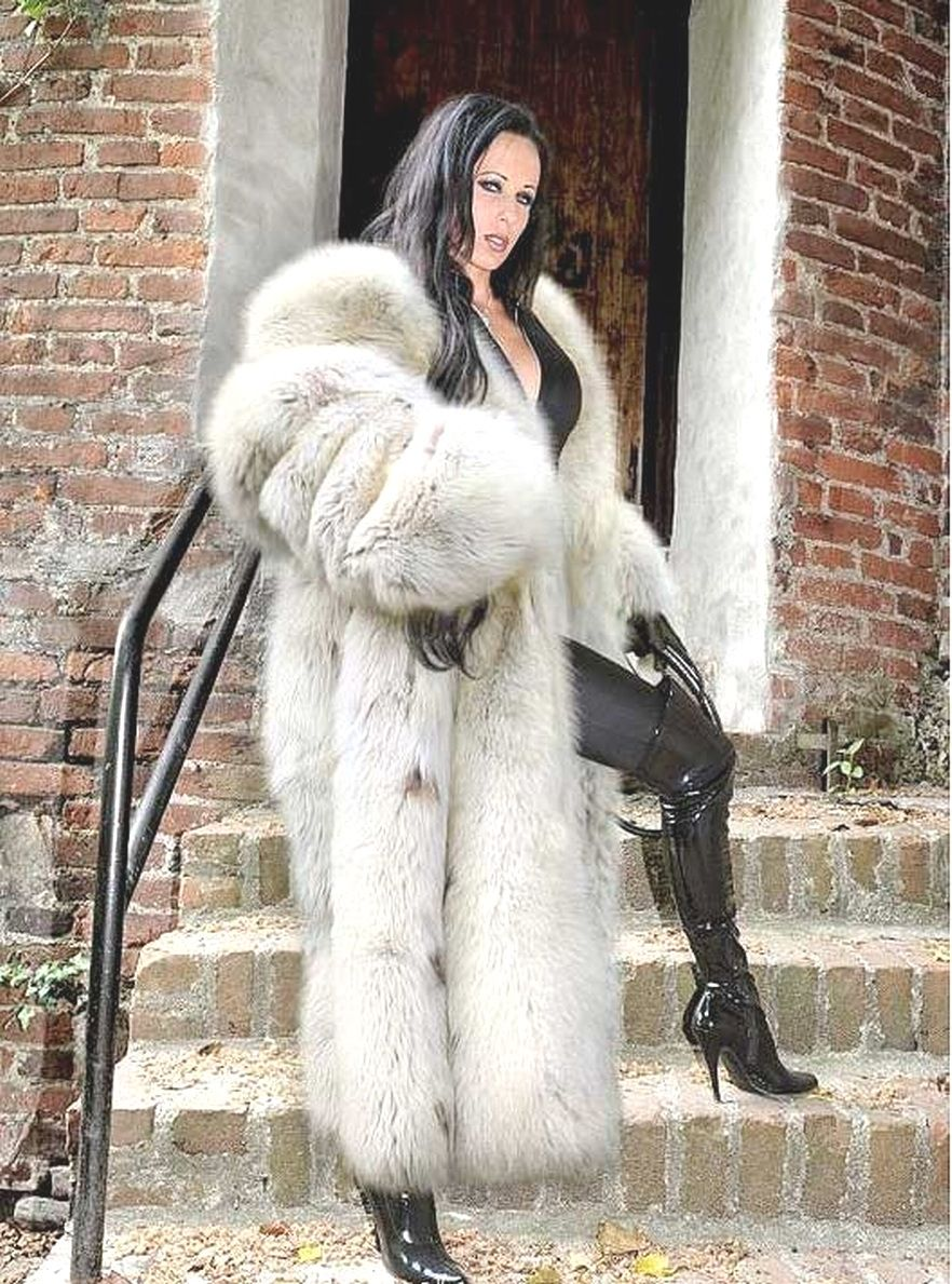 Fur coat fetish