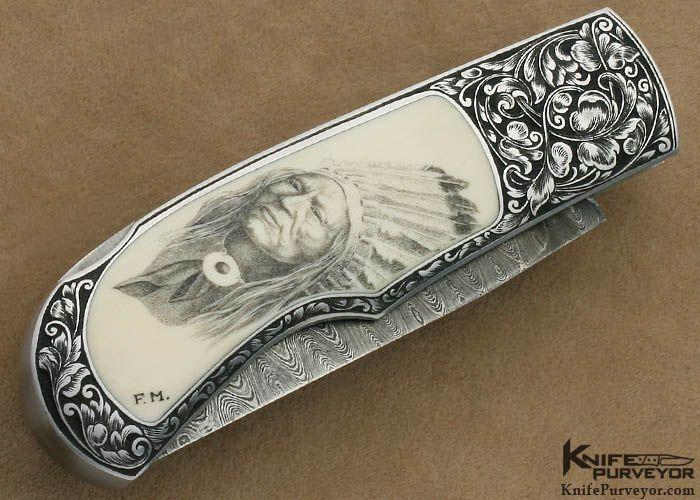 Steve Hoel Custom Knife Bob Engnath Scrimshawed Pre Ban