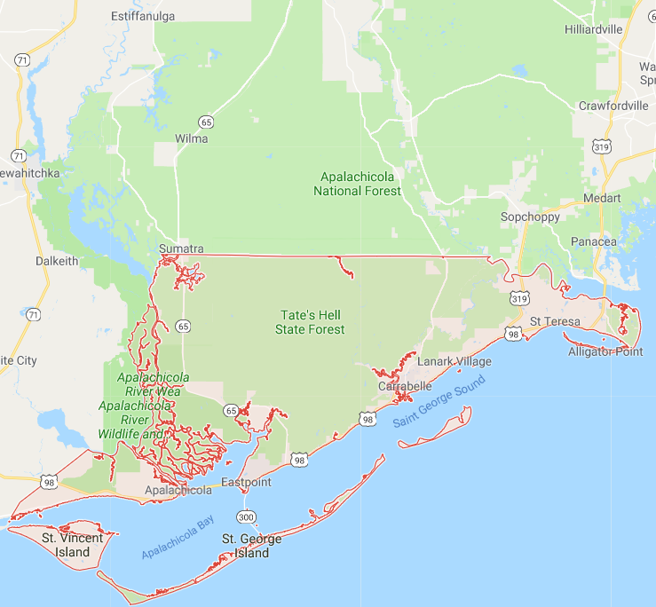 Alligator Point Florida Map.Maps For All 67 Florida Counties And A Brief History Lesson