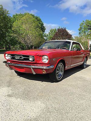 Ebay 1966 Ford Mustang Gt With Red Parchment Pony Interior Red 1966 Mustang Gt Coupe Signal Red White Vinyl To 1966 Ford Mustang Mustang Gt 1966 Mustang Gt